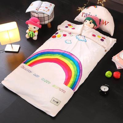 北欧暖绒睡袋款(棉花双胆款) 七色彩虹折叠尺寸80*135