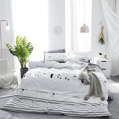 2018 喷气纯棉北欧四件套 1.8m(6英尺)床 快乐音符