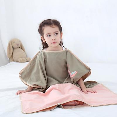 2019新款-水洗棉防踢睡袋(睡袋外套含枕套)模特图 童话精灵75*120