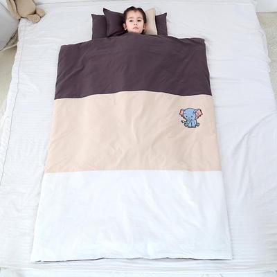 2019新款-儿童三件套(模特图) 棉花款垫芯60*120 森林小象