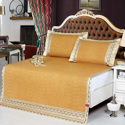 藤席系列        印尼藤席系列三件套 1.5m(5英尺)床 黄咖