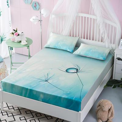 2019牛氏席铺 高端水洗机洗床包冰丝席 冰丝凉席 三件套 1.5m(5英尺)床 水晶之恋