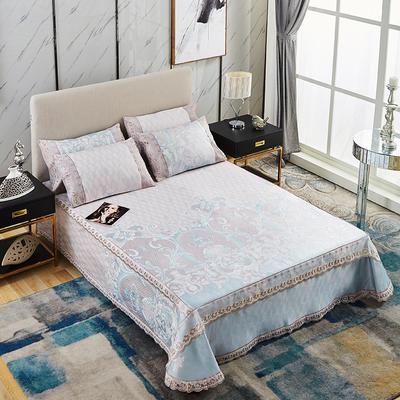 牛氏席铺 高端水洗机洗床笠床单冰丝席 冰丝凉席 三件套 1.5m(5英尺)床 洛丽安曲床单