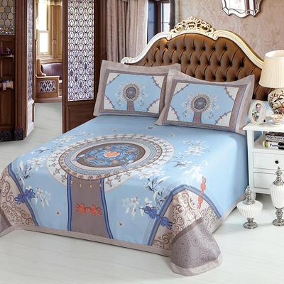 牛氏席铺 可水洗床单系列三件套 2.0m(6.6英尺)床 国色天香