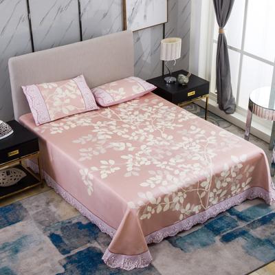 牛氏席铺 可水洗床单系列三件套 2.0m(6.6英尺)床 金枝玉叶-桔