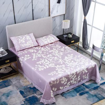 牛氏席铺 可水洗床单系列三件套 2.0m(6.6英尺)床 金枝玉叶-紫
