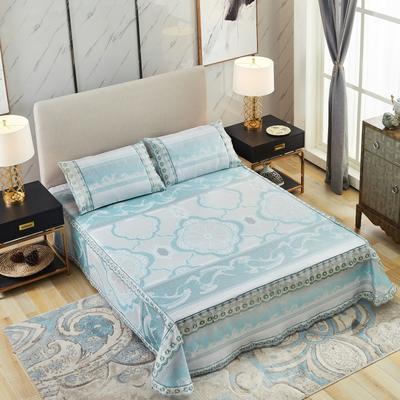 牛氏席铺 高端水洗机洗床笠床单冰丝席 冰丝凉席 三件套 1.5m(5英尺)床 香格里拉床单