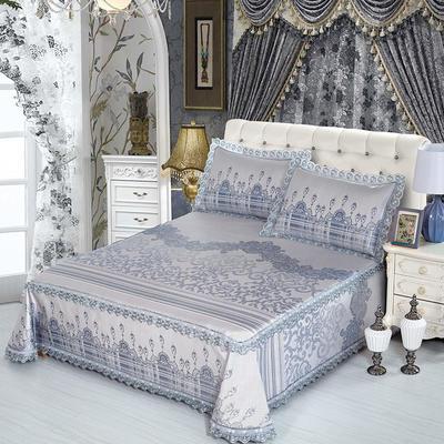 牛氏席铺 高端水洗机洗床笠床单冰丝席 冰丝凉席 三件套 1.5m(5英尺)床 安迪利亚床单