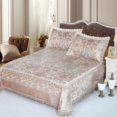 牛氏席铺 高端水洗机洗床笠床单冰丝席 冰丝凉席 三件套 1.5m(5英尺)床 瑞丽时尚床单