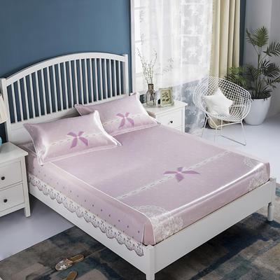 2020牛氏席铺 高端水洗机洗床包冰丝席 冰丝凉席 三件套 1.5m(5英尺)床 少女心床包