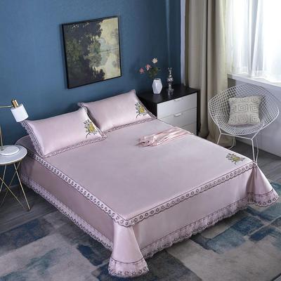 牛氏席铺 高端水洗机洗床笠床单冰丝席 冰丝凉席 三件套 1.5m(5英尺)床 粉色床笠床单