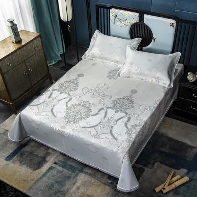 2020牛氏席铺绑带床单 冰丝绳固床单 冰丝凉席 凉席三件套 凉席套件 1.5m(5英尺)床 艾尔莎绑带
