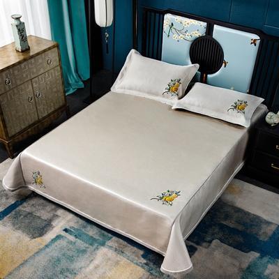 2019牛氏席铺绑带床单 冰丝绳固床单 冰丝凉席 凉席三件套 凉席套件 1.5m(5英尺)床 豆沙绑带