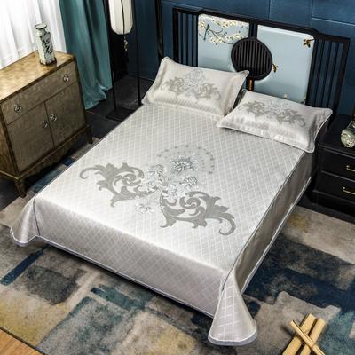 2020牛氏席铺冰丝床单绳固款 高端定位提花类 凉席三件套 冰丝凉席 凉席套件 1.5m(5英尺)床 梦娜绑带