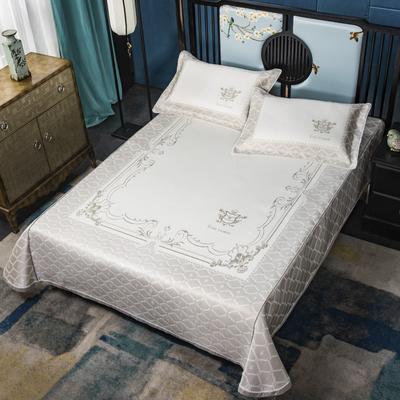 2020牛氏席铺冰丝床单绳固款 高端定位提花类 凉席三件套 冰丝凉席 凉席套件 1.5m(5英尺)床 清风雅致绑带