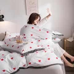 水洗臻棉印花四件套 1.2m(4英尺)床三件套 如嫣