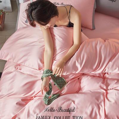 2020新款水洗真丝四件套圣罗兰系列 1.5m(5英尺)床单款 圣罗兰(藕粉)