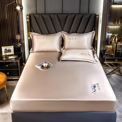 2021新款国潮冰丝凉席床笠款 1.5m三件套 香槟银