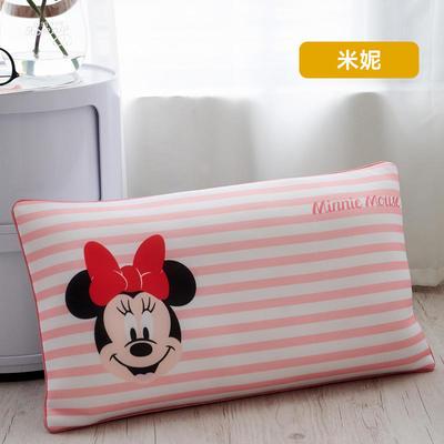 2019新款迪士尼乳胶数码印花羽丝填充儿童学生护颈枕正品一件代发(清仓) 30*50 米妮