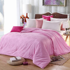 抗日家纺40全棉提花桑蚕丝被 纱套30元 粉色