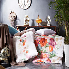 抗日特价款 长绒棉活性印花羽绒被 被子被芯  冬被 200*230cm 百花争艳