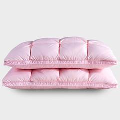 抗日家纺 柔赛丝面包羽绒枕  鹅绒枕头 粉红色/只(48*74cm)