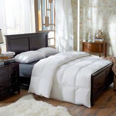 抗日95鹅绒款 80s柔赛丝羽绒被 鹅绒被 冬被子被芯 北国风光 150x200cm2斤 白色