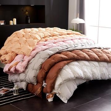 抗日特价款 全棉柔赛丝扭花羽绒被 鹅绒被冬被子 150*200cm 白色