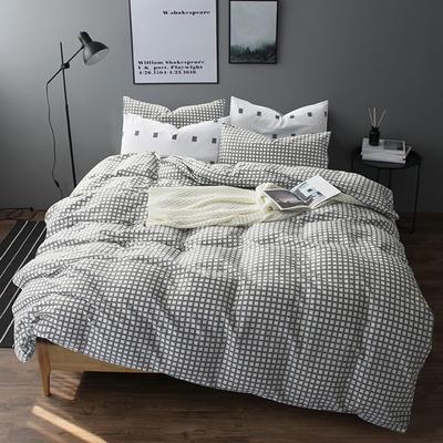多彩家纺北欧简约系列 标准(1.5m-1.8m)床 格格灰