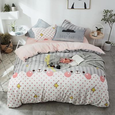 北欧法莱绒四件套系列 标准(1.5-1.8m)床 喵趣