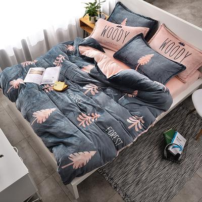 北欧法莱绒四件套系列 标准(1.5-1.8m)床 暖冬