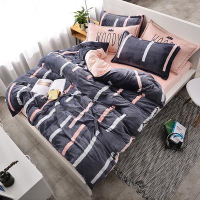 北欧法莱绒四件套系列 标准(1.5-1.8m)床 逝水流年