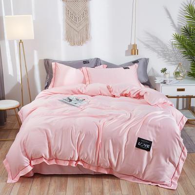2019新款水洗真丝四件套 1.5m(5英尺)床 绚丽-嫩粉
