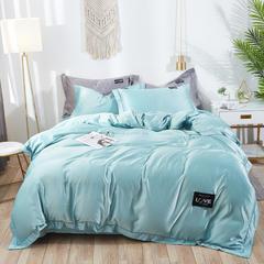 2019新款水洗真丝四件套 1.5m(5英尺)床 绚丽-水蓝