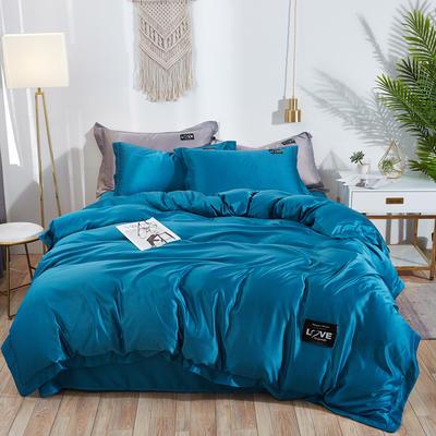 2019新款水洗真丝四件套 1.5m(5英尺)床 绚丽-蔚蓝