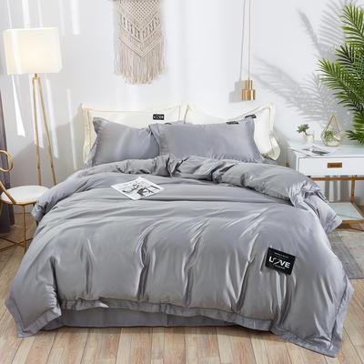 2019新款水洗真丝四件套 1.5m(5英尺)床 绚丽-银灰