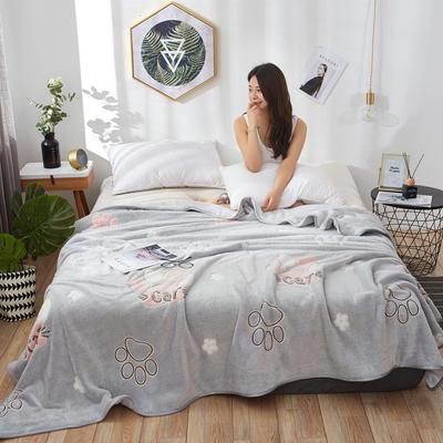 2019新款夏季珊瑚绒雪花绒小毛毯 1.2*2.0m 可爱猫爪