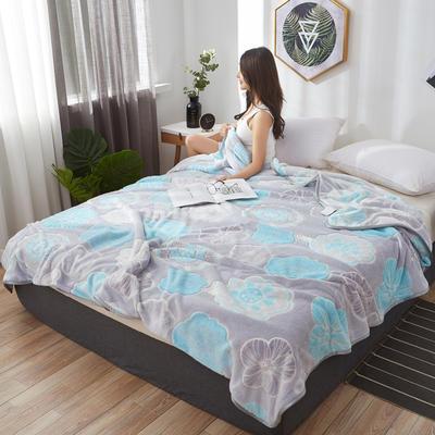 2019新款夏季珊瑚绒雪花绒小毛毯 1.2*2.0m 潘多拉