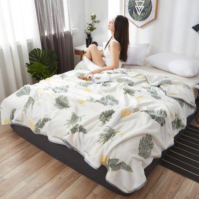 2019新款夏季珊瑚绒雪花绒小毛毯 1.2*2.0m 小菠萝