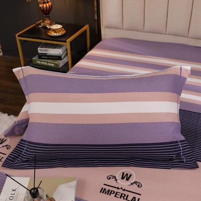 2020新款全棉生态磨毛单品枕套 48cmX74cm/对 简单生活