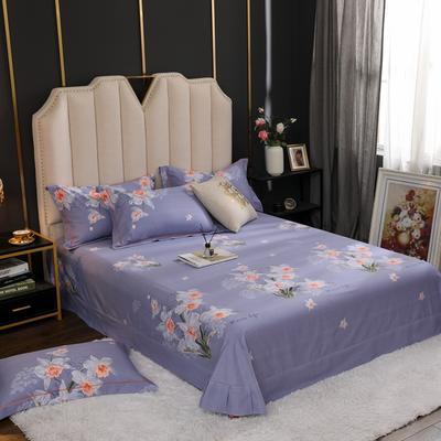 2020新款全棉生态磨毛单品床单 245cmx270cm 花颜