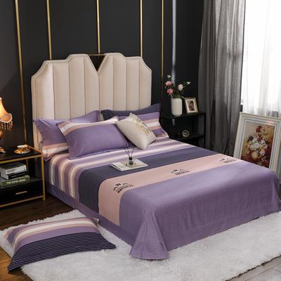 2020新款全棉生态磨毛单品床单 245cmx270cm 简单生活