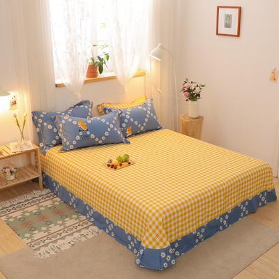 2020新款全棉生态磨毛单品床单 245cmx250cm 秘密花园