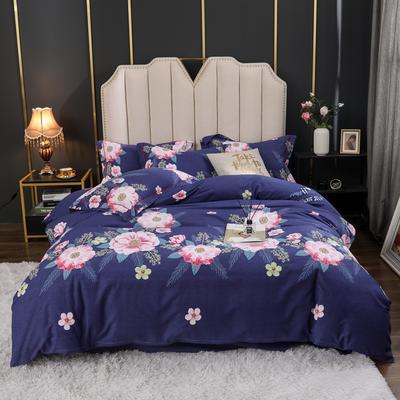 2020新款全棉生态磨毛四件套 1.5m床单款四件套 万紫千红