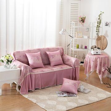 韩式印花全盖沙发巾万能盖巾沙发套罩桌布抱枕套