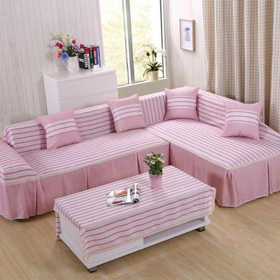 时尚条格系列全盖沙发巾万能盖巾抱枕套桌布沙发套沙发罩 45*45cm同款抱枕套 爱丽丝红