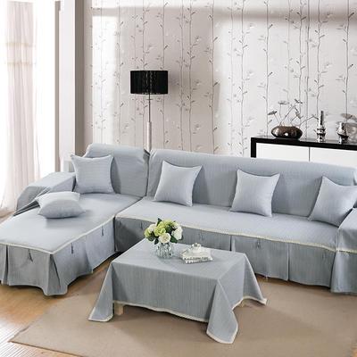 四季款棉麻全盖沙发巾万能盖巾沙发套沙发罩沙发垫抱枕套桌布 45*45cm同款抱枕套 秋香桔