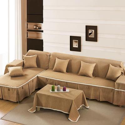 四季款棉麻全盖沙发巾万能盖巾沙发套沙发罩沙发垫抱枕套桌布 45*45cm同款抱枕套 迷情咖