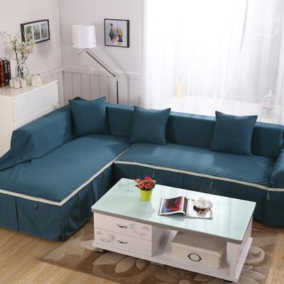 四季款棉麻全盖沙发巾万能盖巾沙发套沙发罩沙发垫抱枕套桌布 45*45cm同款抱枕套 深湖蓝