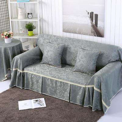提花系列万能盖巾沙发套沙发巾抱枕套桌布 抱枕45*45cm 凤之舞-灰